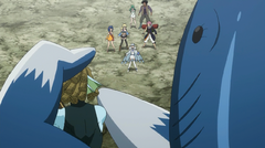 Piscis vs. Fairy Tail, Yukino, Hisui y Arcadios
