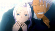 Mira and Elfman's hapiness when they saw Lisanna