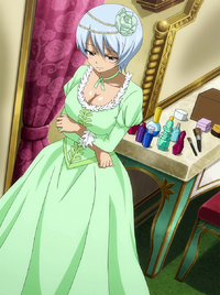 Yukino dressed up for the banquet
