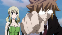 Lucy and Loke fight against Tartaros