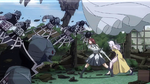 Erza and Mirajane attacked by Tartaros