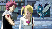 Gray stalking Lucy