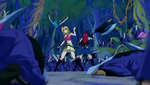 Lucy, Erza & Happy vs Deliora Survivors