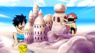 Sand building contest