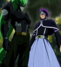 Freed and Bickslow confront Rustyrose (anime)