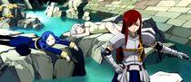 Lissana y Juvia son derrotadas por Erza