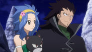 Gajeel, Levy and Lily in Celestial Spirit Clothing
