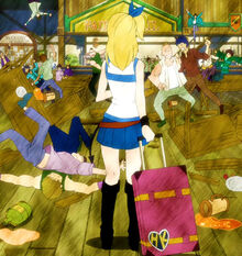 Lucy chega na Fairy Tail