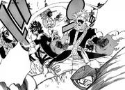 Natsu, Gray y Lucy luchan contra Avatar