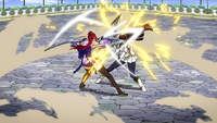 Erza and Kagura clash