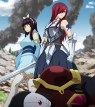 Erza arrives to Hargeon