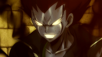 Gajeel combines iron and shadow
