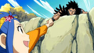 Gajeel helps Levy