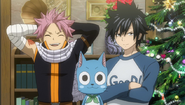 Natsu, Gray and Happy at Lucy's aparment