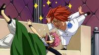 Natsu wakes up to see Ichiya in his face