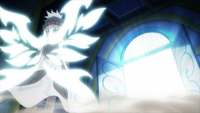 Zeref in front of Neo Eclipse