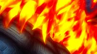 Atlas Flame assists Natsu