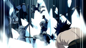 Gray vs. Edolas Royal Army & Knightwalker