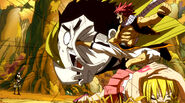 Natsu saves Lucy from Kain