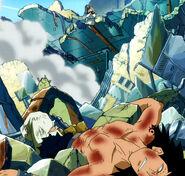 Gajeel defeated by Natsu