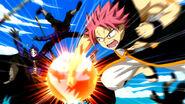 Natsu dominates his opponents