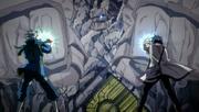 Lyon y Gray vs. Guardián de Roca