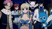 Team Natsu, Wendy and Carla in the FT movie