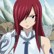 Erza listens to Irene's story