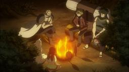 Mavis, Zera y los Cazadores Acampan en el Bosque