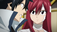 Gray argues with Erza