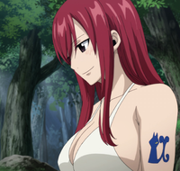 Erza welcomes Makarov back