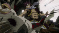 Natsu attacks Crawford