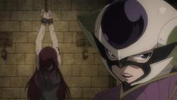 Kyouka Detiene la Tortura de Erza