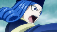 An angry Juvia attacking