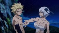 Sting slapped by Yukino