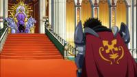 Arcadios Hablando con el Rey