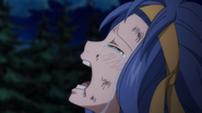 Levy cries as Gajeel disappears