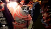Midnight destruye la tumba de Neville