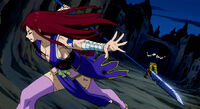Erza breaks through Midnight's illusion
