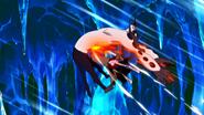 Natsu attacks the Vulcan