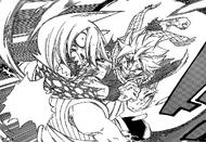 Natsu golpea a Jackal