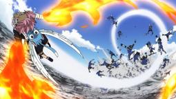 Natsu vs. Soldados de Zeref