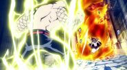 Natsu getting fired up