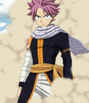 Natsu after defeating Ikusa-Tsunagi
