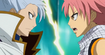Natsu vs. Lyon en Galuna