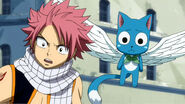 Happy and Natsu saw Lucy cring