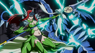 Erza defeat monster using sea empress and lightning spear
