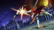 Erza fightinng with her feet