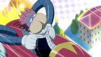 Natsu's motion sickness on a roller coaster