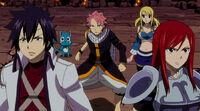 Team Natsu about to battle